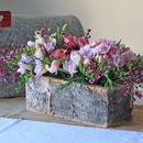 Birch Bark Centrepiece Container Long