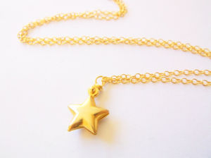 Gold Vermeil Star Pendant - necklaces & pendants