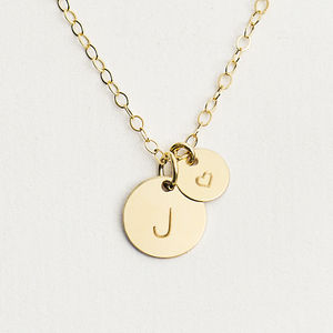 Personalised Initial Heart Necklace - gifts for her