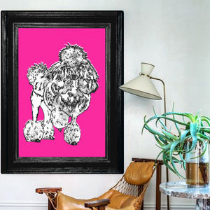 Madame Poodle, Canvas Art