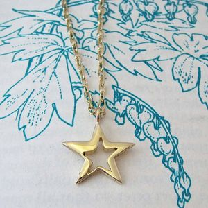 Gold Star Necklace - celestial jewellery