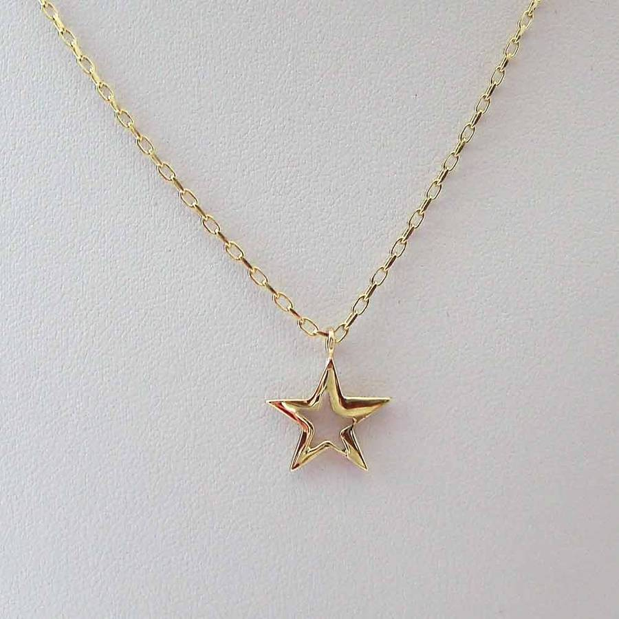 Gold star necklace by heather scott jewellery notonthehighstreet gold star necklace mozeypictures Image collections