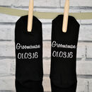 Personalised Groomsman Wedding Date Socks