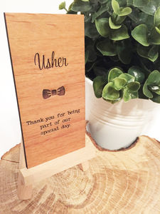 Usher Wooden Place Setting - new in wedding styling