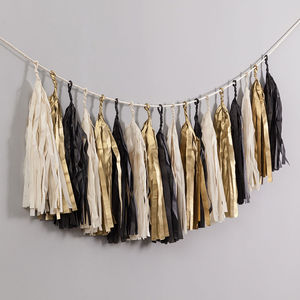 Glitz And Glam Handcut Tassel Garland - new years eve entertaining