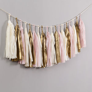Baby Girl Handcut Tassel Garland - outdoor decorations