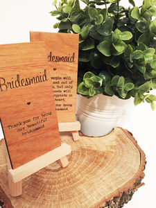 Bridesmaid Wooden Place Setting - table decorations