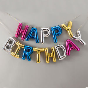 Happy Birthday 16 Inch Balloon Letters