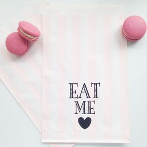 Eat Me Stripe Party Bags