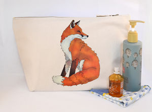 Fox Canvas Wash Bag