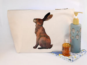 Hare Canvas Wash Bag