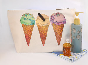 Ice Cream Canvas Wash Bag