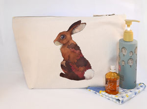 Bunny Rabbit Canvas Wash Bag