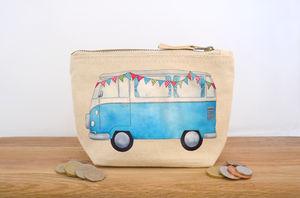 Campervan Canvas Coin Purse - bags & purses