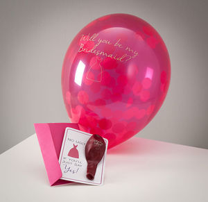 Will You Be My Bridesmaid Balloon Card - new in wedding styling