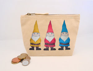 Gnomes Canvas Coin Purse - purses & wallets