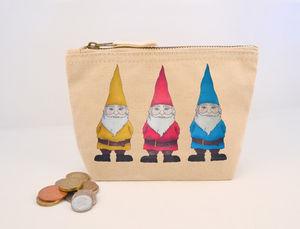 Gnomes Canvas Coin Purse - more