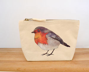 Robin Canvas Coin Purse