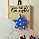 'This Week's Masterpiece' Wooden Peg Blue Star