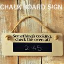 'Something's Cooking' Chalk Board Sign