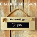 'We're Eating At…' Chalk Board Sign