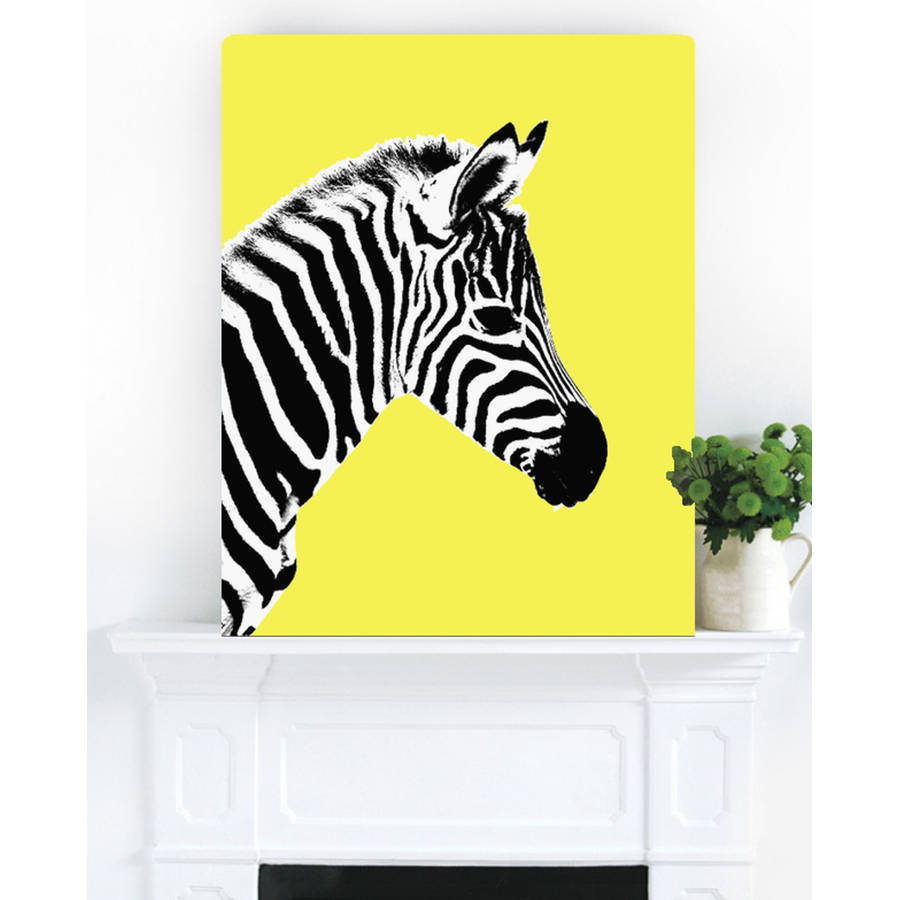 glowing zebra, canvas art by palm valley | notonthehighstreet.com