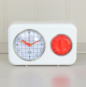 Ivory Kitchen Clock And Timer - clocks