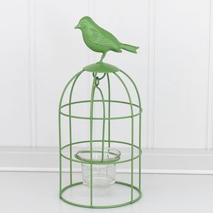 Spring Green Bird Cage Tea Light Holder - candles & home fragrance