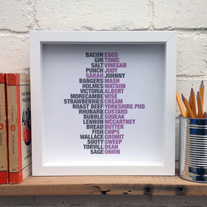 Personalised Couples Print; British Icons - posters & prints