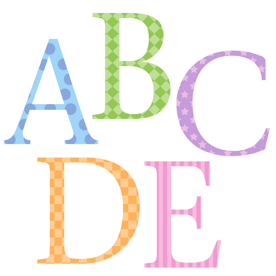 Childrens alphabet wall stickers upper and lower pastel by childrens alphabet wall stickers upper and lower pastel amipublicfo Images