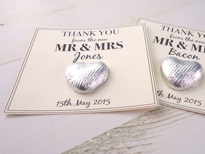 Save The Date/Wedding Day Favour - novelty chocolates