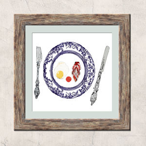 Bacon And Egg Plate Limited Edition Signed Print - food & drink prints