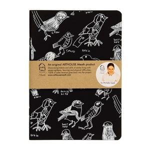 A5 Birds Handprinted Notebook