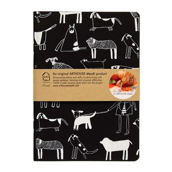 A5 Dogs Handprinted Notebook