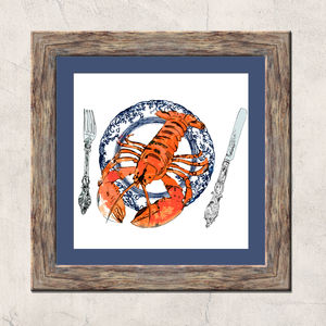 Lobster Plate Limited Edition Signed Print - contemporary art