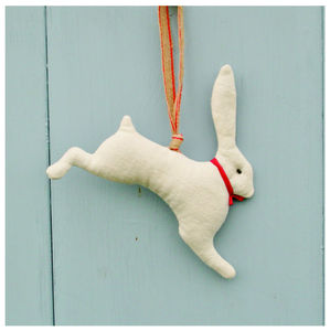 Lavender 'Leaping Hare' Easter Decoration