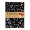A5 Cats Handprinted Notebook