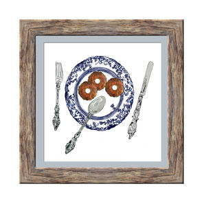 Biscuit Plate Limited Edition Signed Print - limited edition art