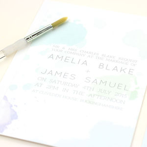Amelia Watercolour Wedding Stationery - save the date cards