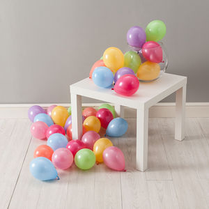 Pack Of 28 Pastel Rainbow Mini Balloons - room decorations
