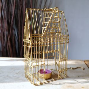 Hanging Birdcage Tealight Holder - occasional supplies