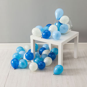 Pack Of 28 Baby Boy Mini Balloons - children's parties