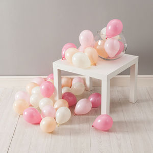 Pack Of 28 Peach Blossom Mini Balloons - balloons