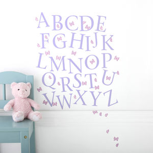 Butterfly Alphabet Wall Stickers Upper And Lower Case - decorative accessories