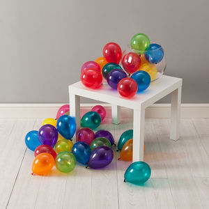 Pack Of 28 Jewel Rainbow Mini Balloons - balloons