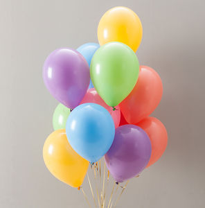 Pastel Rainbow Party Balloon Pack