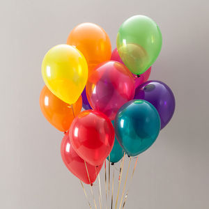 Jewel Rainbow Party Balloon Pack - outdoor decorations