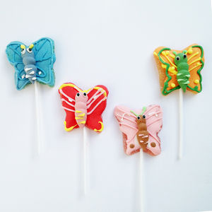 Set Of Four Butterfly Jelly Pops