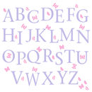 Butterfly Alphabet Wall Stickers Upper And Lower Case