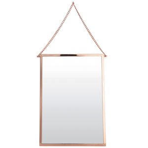 Rectangular Copper Mirror - living room